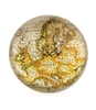 Large Gold Sparkling Metallic Vintage World  Map Paper Weight