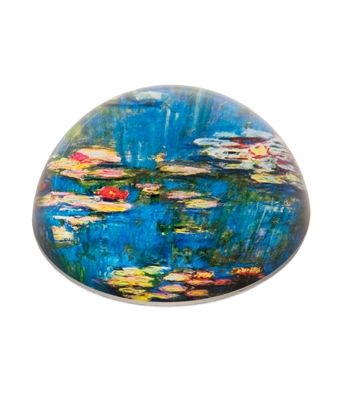 Crystal Glass Dome Water Lilies Paper Weight