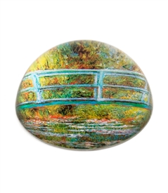 Water Lily Pond/ Claud Monet Glass Dome Paperweight