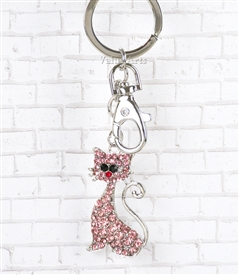 Pink Kitten Key Chain/Purse Jewelry