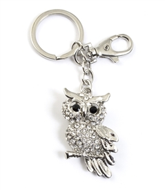 Owl on Branch Key Chain/Purse Jewelry