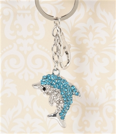 Blue Dolphin Key Chain/Purse Jewelry