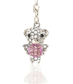 Jeweled Teady Charm