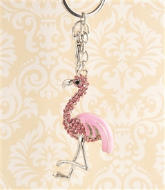Pink Flamingo Key Chain/Purse Jewelry