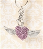 Angel Wing Heart Key chain/Purse Jewelry