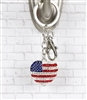 American Flag Purse Key Chain/Purse Jewelry