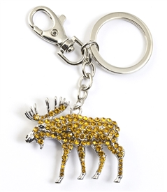 Crystal Moose Key Chain