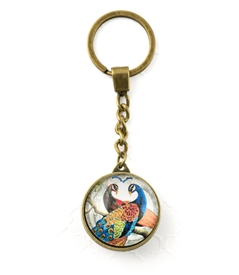 Blue Peacock Key Chain
