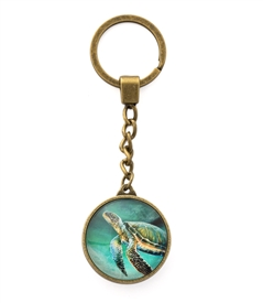 Green Sea Turtle Key Chain