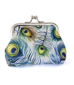 Peacock Feather Change Purse