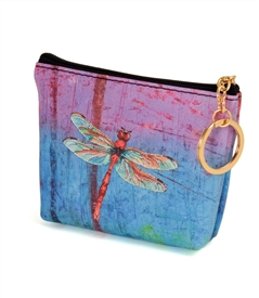 Red Dragonfly Change Purse
