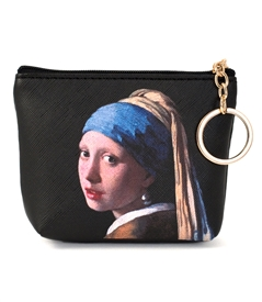 Girl with a Pearl Keyring Coin Purse