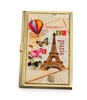 Hot Air Balloon Eiffel Tower Card Case