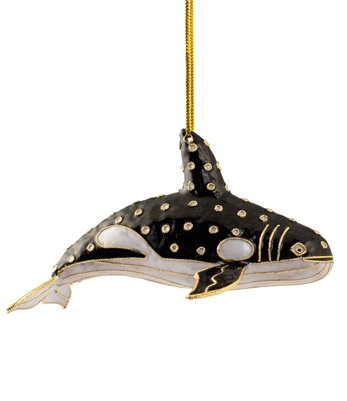 Cloisonne Killer Whale Ornament