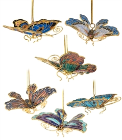 Cloisonne Large Butterfly Ornament