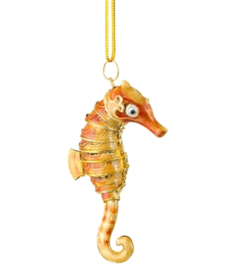 Cloisonne Articulate Seahorse Ornament