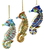 Cloisonne Articulate Large Seahorse Ornament
