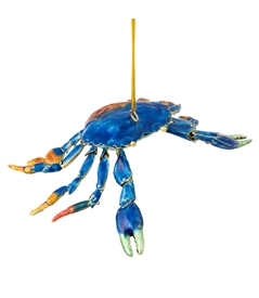 Cloisonne Articulate Large Crab Ornament