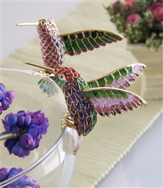 Cloisonne Clip On Hummingbird