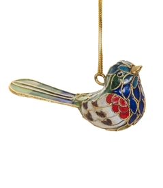 Cloisonne Singing Bird Ornament