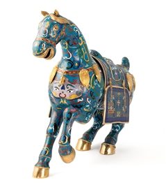 Traditional Cloisonne Tong Horse