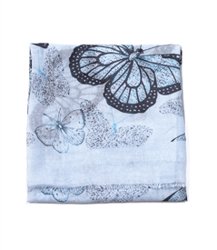 Butterfly Scarf in Light Blue