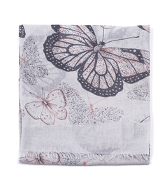 Butterfly Scarf in Silver