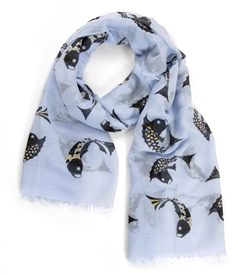 Oriental Good Luck Fish Scarf