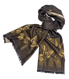 Gold Metallic Butterfly Wrap /Black