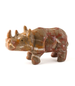 Brown Jasper Rhino Carving Figurine