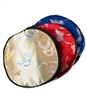 large Silk Round Butterfly Pouch with Zipper