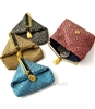 Silk Brocade Greek Key Change Purse