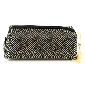 Silk Brocade Rectangular Spiral Design Accessories Case