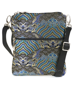 Oriental High End Silk Damask Cross Body Bag
