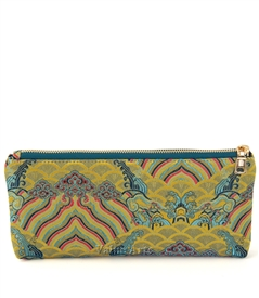 Oriental High End Silk Damask Zip Pouch