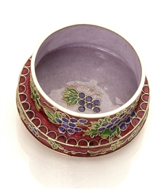 Cloisonne Wine Coster / Candle Holder