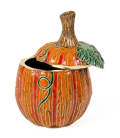 Cloisonne Tall Pumpkin Box