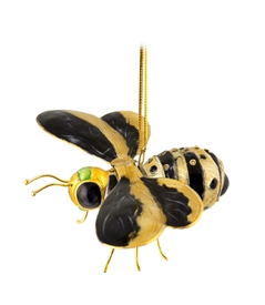 Cloisonne Articulate Bumble Bee Ornament
