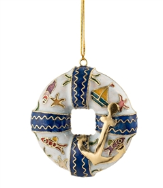 Cloisonne Lifesaver Ornament