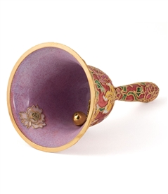 Cloisonne Floral Large Table Bell