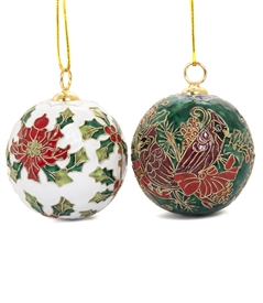 Cloisonne Medium Christmas Ball Ornament