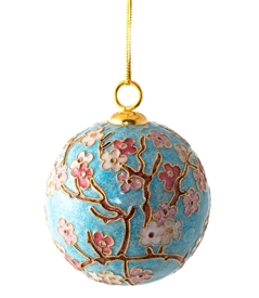 Cloisonne Cherry Blossom Ball Ornament