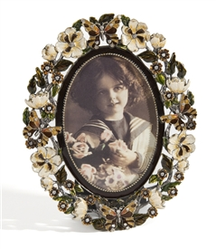 butterfly oval picture frame