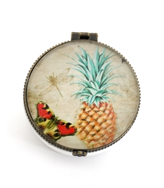 Vintage Pineapple Round Box