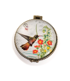 Assorted Humming Bird Trinket Box Set of 6