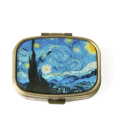 Starry Night by Vincent van Gogh Pill Box