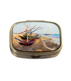Van Gogh's Fishing Boats Vintage Pill Box