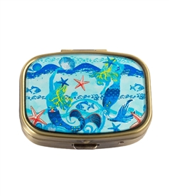 Mermaid Vintage Pill Box