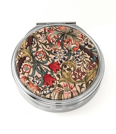 William Morris Golden Lily Round Pill Box