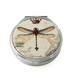 Dragonfly Round Pill Box